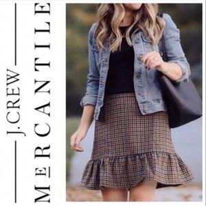 J. Crew Mercantile | Houndstooth Mini Skirt